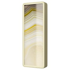 Stylish Metal Wall Sconce Champagne Finish Opalescent Vetrite
