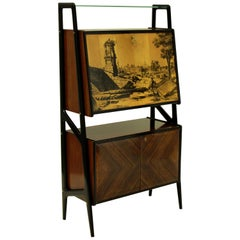 Stylish Midcentury Bar Cabinet by Dassi