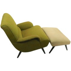 Stylish Mid Century Lounge Chair and Ottoman
