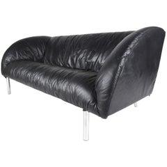 Stylish Modern Small Leather Sofa