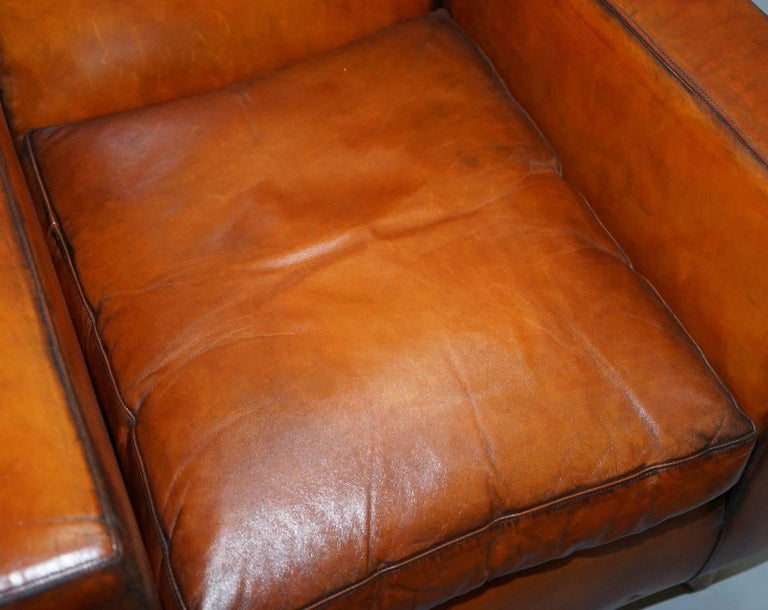 Stylish Modernist Restored Terence Conran Italian Leather ...