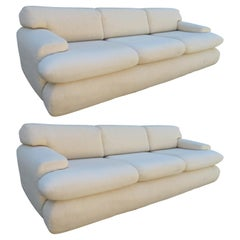 Stylish Pair of Weiman Preview Sofas Mid-Century Modern