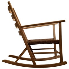Stylish Pine Late 1930 Norwegian Rocking Chair