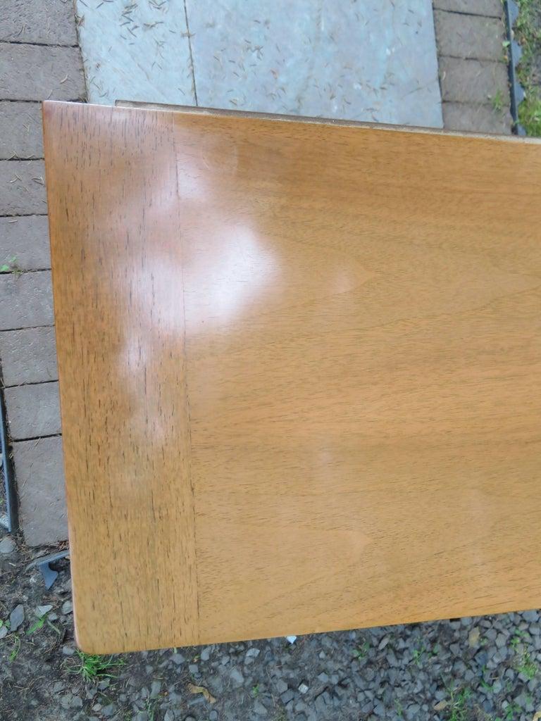 American Stylish Slim Harvey Probber Style Midcentury Trefoil Design Console Cabinet For Sale