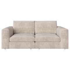 Stylish Sofa Seater Frame Solid Timber  Wood Upholstered Leather or Fabric