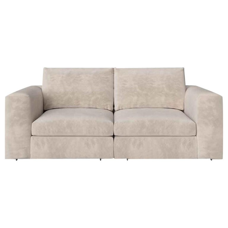 Stylish Sofa Seater Frame Solid Timber Plywood Upholstered Leather or Fabric For Sale