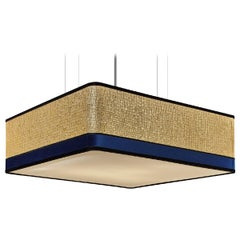 Stylish Square Ceiling Lamp Lampshade in Fabric Customizable