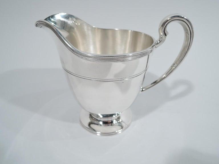 Stylish Tiffany Edwardian Modern Sterling Silver Coffee & Tea Set For Sale 2