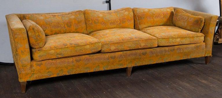 Late 20th Century Stylish Tuxedo Sofa For Sale