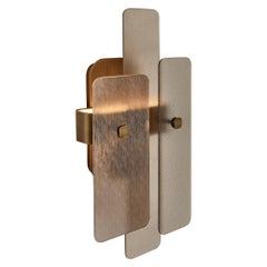 Stylish Wall Sconce Brass Frame Champagne or Antique Bronze