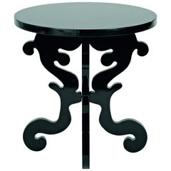 Stylish Wooden Side Table in Lacquered Finish