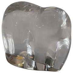 Stylized Crystal Elephant Sculpture or Paperweight by Baccarat