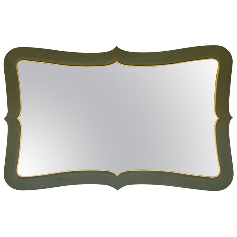 Stylized Green Mirror For Sale