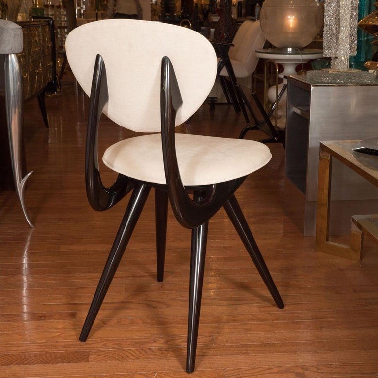Italian Stylized Lacquered Wood Chairs For Sale