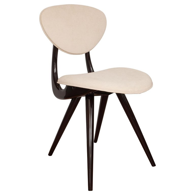 Stylized Lacquered Wood Chairs For Sale
