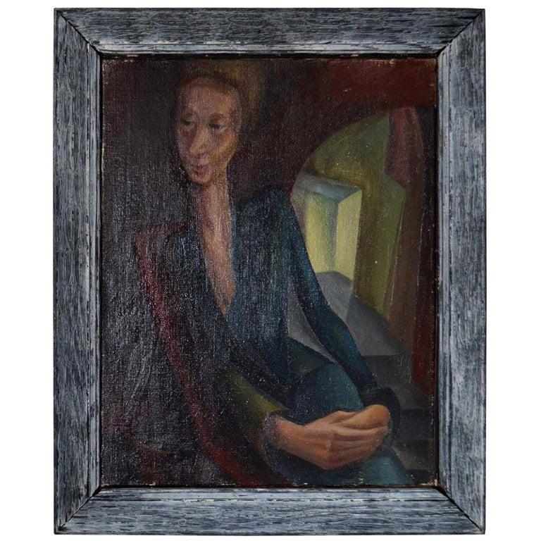 Stylized Portrait of a Lady, Iris Hardcastle, circa 1940 For Sale