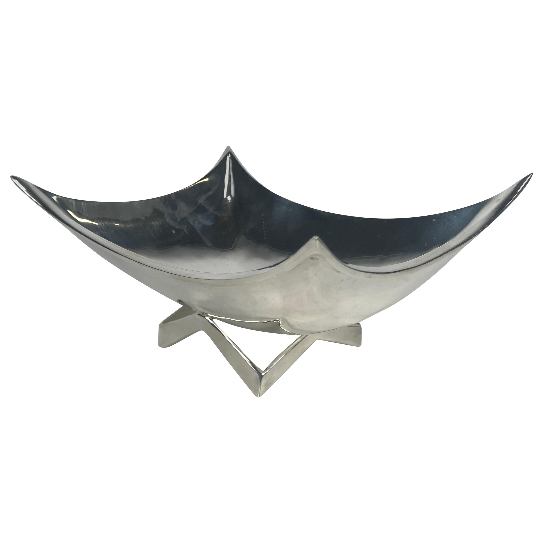 Stylized Sterling Modernism Trinket Bowl by Juvento Lopez Reyes, Mexico