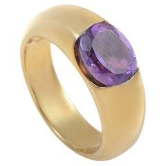 Suarez 18 Karat Yellow Gold Amethyst Ring