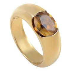 Suarez 18 Karat Yellow Gold Citrine Ring