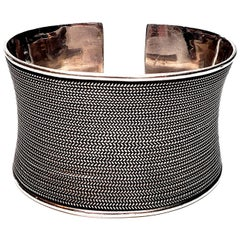 Suarti Bali Sterling Silver Wide Braided Cuff Bracelet