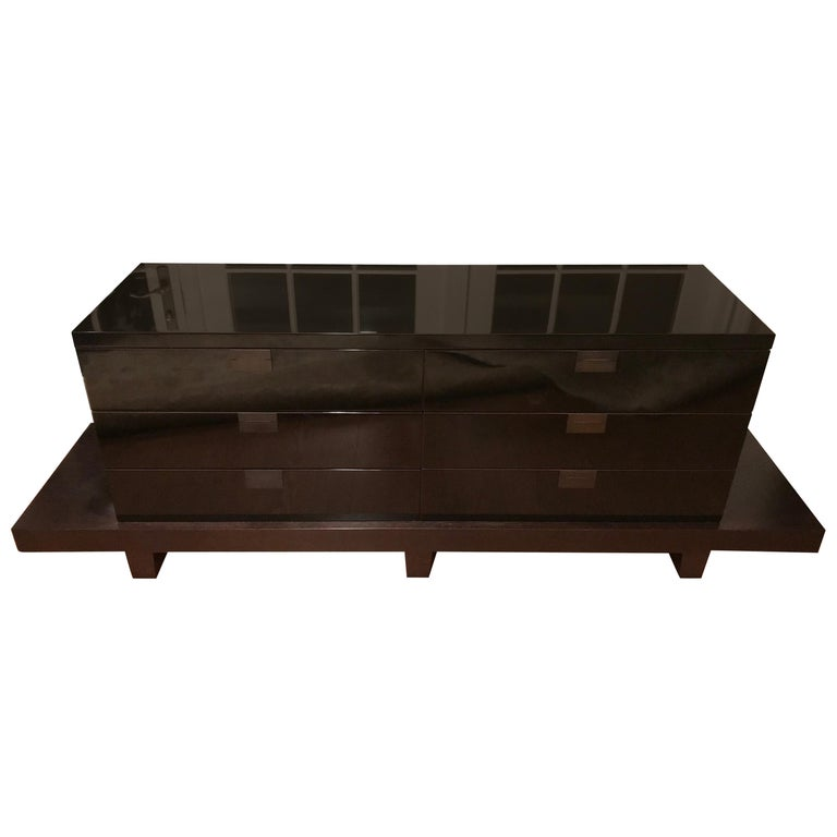 Suberb Custom Christian Liaigre 6-Drawer Oscuro Cabinet For Sale