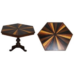 Sublime 19th Century Anglo-Indian Specimen Sample Wood Centre Occasional Table