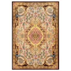 Sublime 19th Century French Savonnerie Rug, Colorful Floral Design Louis XIV