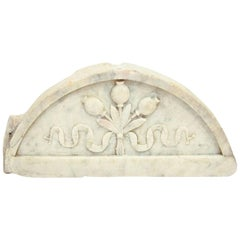 Sublime Carrara Marble Relief Lunette, Italy, 17th Century