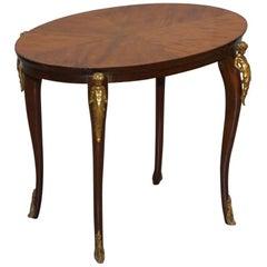 Sublime circa 1880 Tulip Wood Gilt Bronze Mounted Cherub Angle Coffee Side Table