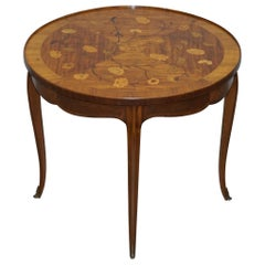 Sublime circa 1900 Italian Marquetry Inlaid in Centre Occasional Table Bronze