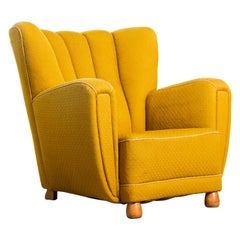 Sublime Danish 1940s Large Scale Club or Lounge Chair