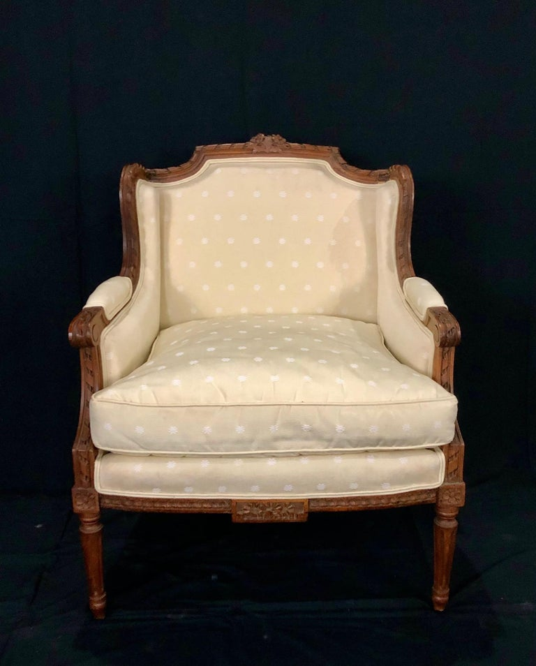 Sublime French Antique Louis XVI Style Duchesse Brisee Chaise Longue For Sale 8