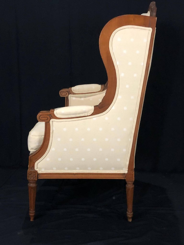 Sublime French Antique Louis XVI Style Duchesse Brisee Chaise Longue For Sale 9