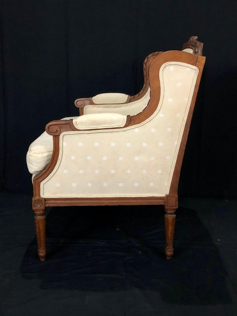 Sublime French Antique Louis XVI Style Duchesse Brisee Chaise Longue For Sale 10