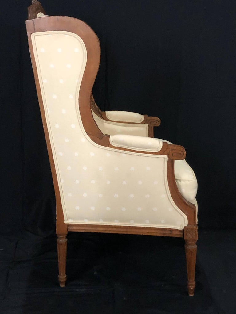 Sublime French Antique Louis XVI Style Duchesse Brisee Chaise Longue For Sale 12