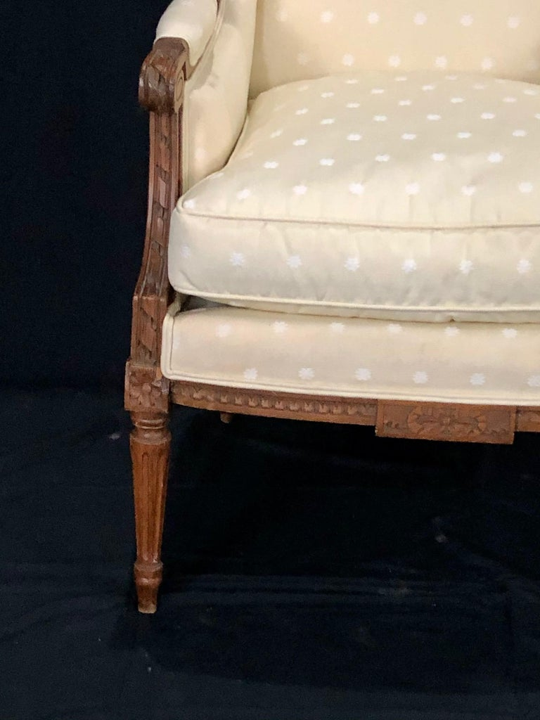 Sublime French Antique Louis XVI Style Duchesse Brisee Chaise Longue For Sale 13