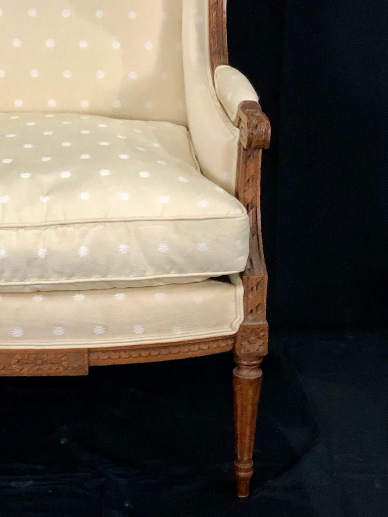 Sublime French Antique Louis XVI Style Duchesse Brisee Chaise Longue For Sale 14