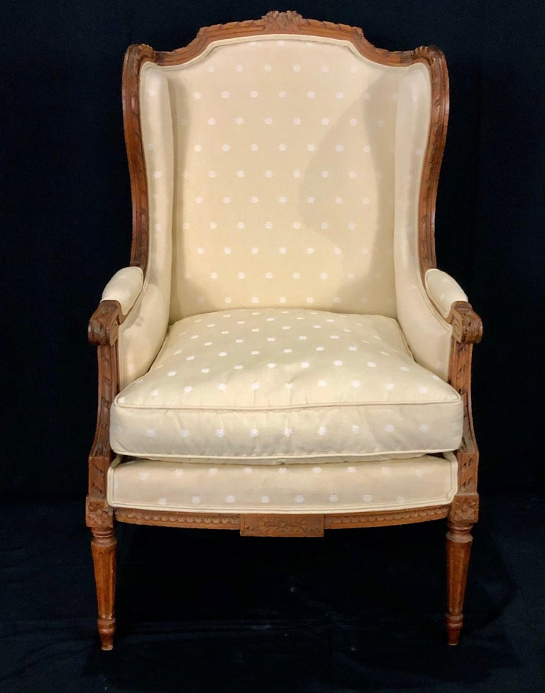 Sublime French Antique Louis XVI Style Duchesse Brisee Chaise Longue For Sale 15