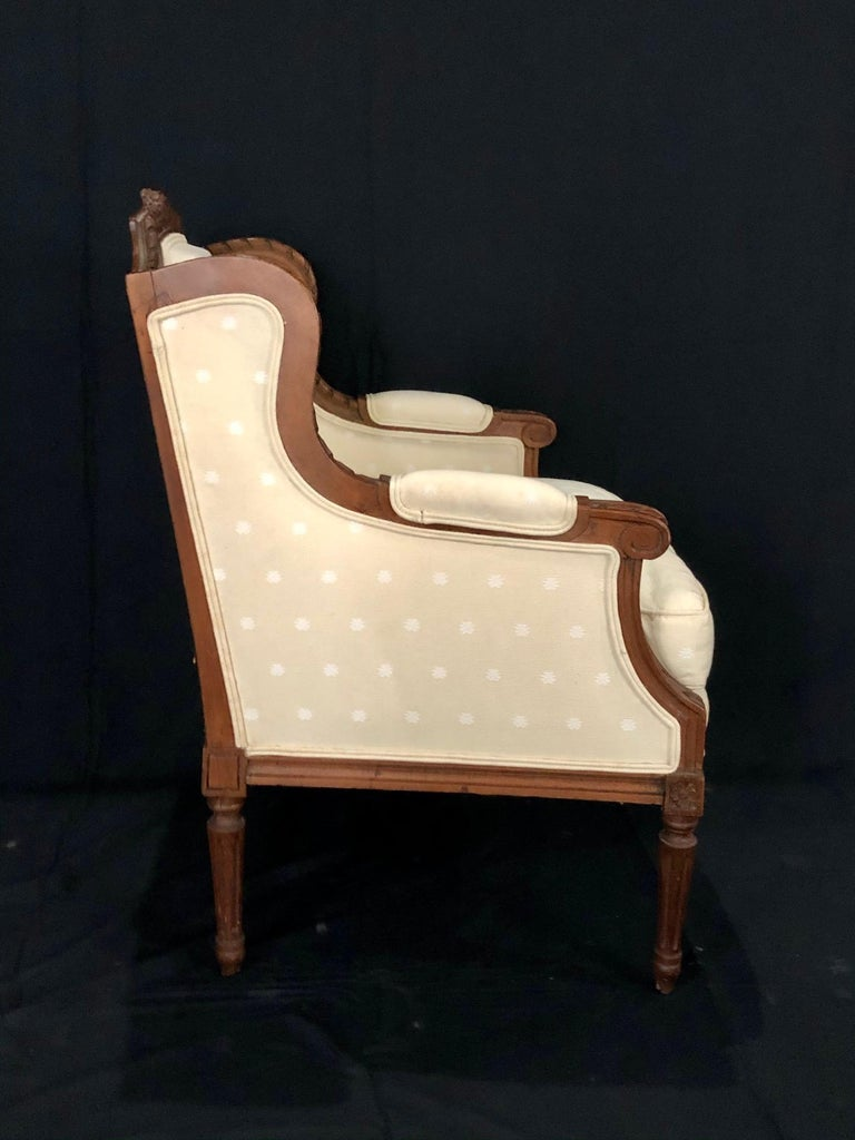19th Century Sublime French Antique Louis XVI Style Duchesse Brisee Chaise Longue For Sale
