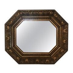 Sublime Ornate Antique Octagonal Giltwood Mirror
