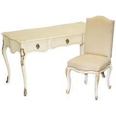 Sublime Ralph Lauren Cannes French Bureau Plat Desk & Office Chair Part of Suite