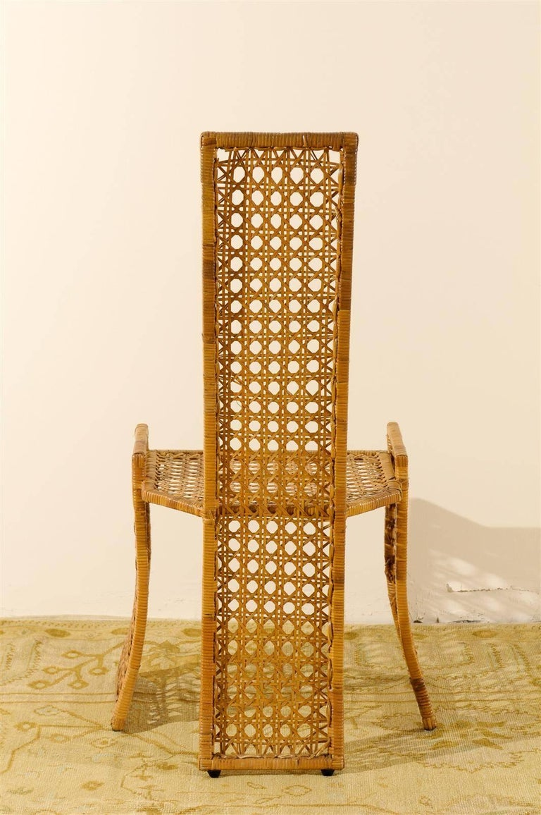 Unknown Sublime Restored Set of 10 Cane Dining Chairs by Danny Ho Fong, circa 1975 For Sale