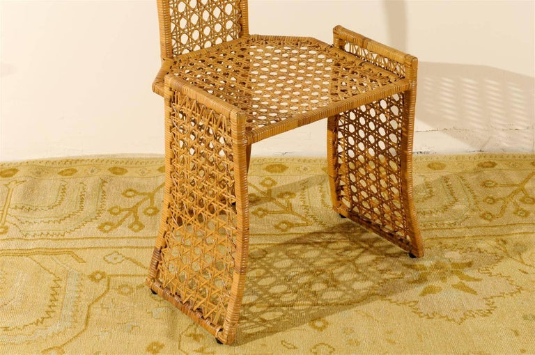 Late 20th Century Sublime Restored Set of 10 Cane Dining Chairs by Danny Ho Fong, circa 1975 For Sale