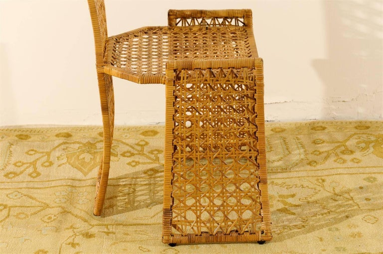 Sublime Restored Set of 10 Cane Dining Chairs by Danny Ho Fong, circa 1975 For Sale 1