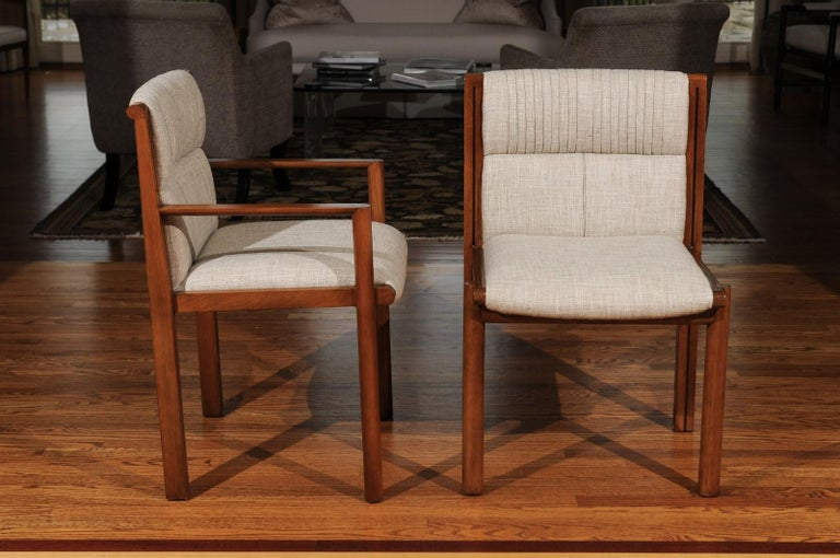 Mid-Century Modern Sublime Restored Set of 12 Dining Chairs by John Saladino for Baker, circa 1985 For Sale