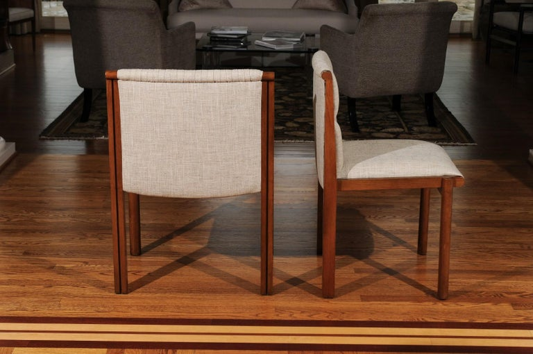 American Sublime Restored Set of 12 Dining Chairs by John Saladino for Baker, circa 1985 For Sale