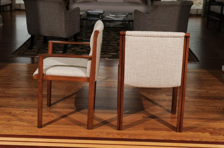 Sublime Restored Set of 12 Dining Chairs by John Saladino for Baker, circa 1985 In Excellent Condition For Sale In Atlanta, GA