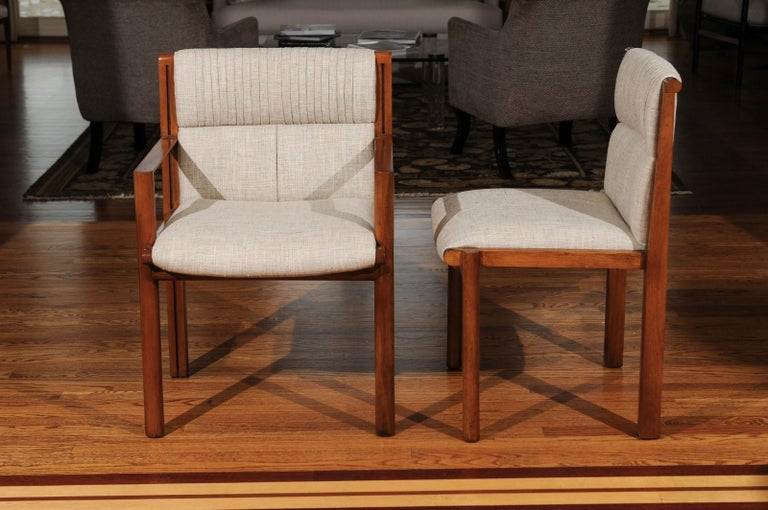 Late 20th Century Sublime Restored Set of 12 Dining Chairs by John Saladino for Baker, circa 1985 For Sale