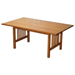 Sublime Riva 1920 Handmade in Italy Solid Oak Refectory Dining Table Seats 6-8
