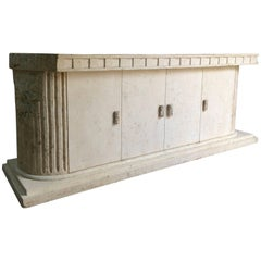 Sublime Sideboard Credenza Composite Marble Parthenon Greek Style Fluted Columns
